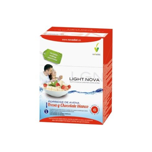 light nova batido sustitutivo porridge fresa